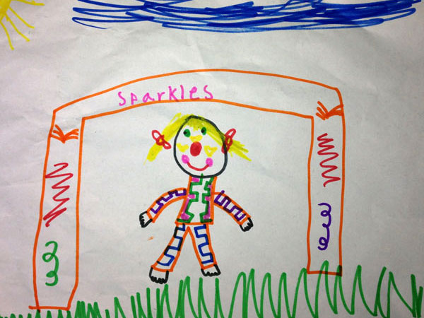 We love Sparkles the Clown AKA Colette