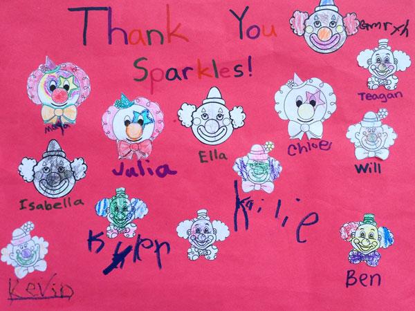 Thank You - Sparkles the Clown AKA Colette
