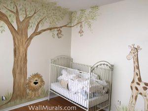 Jungle Nursery Mural - Los Angeles, CA