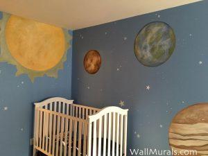 Space Mural Baby Room - Los Angeles, CA