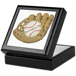 Personalized Baseball Keepshake Box