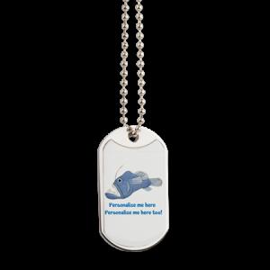 Personalized Piranha Dog Tag