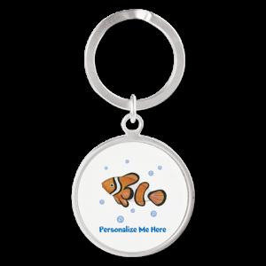 Personalized Clown Fish Keychain