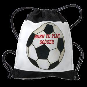 Personalized Soccer Drawstring Bag