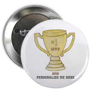 Personalized Trophy Button - Pin